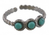 F-D4.1 R2033-006S S. Steel Ring with Stones Adjustable Silver