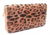 R-E2.2 WA529-004C PU Wallet Leopard 19x10cm Pink