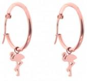 A-B4.1 E015-012SC Stainless Steel Earrings 25mm Flamingo Rose Gold