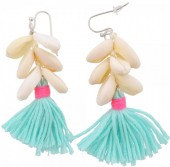 E-E18.1  E009-009 Light Blue Shells and Tassels 6cm
