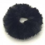 S-I5.3 H414-002 Scrunchie Fluffy Black