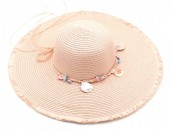 Q-N7.2  HAT315-001 Hat with Shells Pink