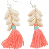 D-F17.3 E009-009 Neon Shells and Tassels 6cm