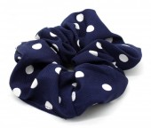 S-B7.5  H002-013 Scunchie Polka Dots Blue
