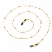 B-B15.2  GL001 Sunglass Cord Chain with Balls Gold