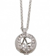 D-B23.1  Angel Catcher with Crystals 14mm Silver