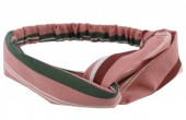 B-E6.8 Headband Stripes Green-Pink