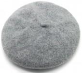 T-D2.2 HAT502-001D Trendy Woolen Baret Adjustable Size Grey