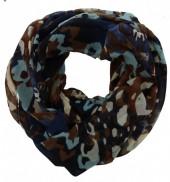 T-B2.2  Cowl-Loop Scarf Camouflage Print Blue
