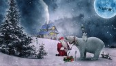 R-D4.2 Diamond Painting Santa and Polar Bear 50x40cm