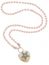 i-E25.2 N009-024 Pink Ibiza Necklace with Shell and Star 95cm