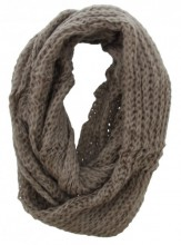 Y-E2.2  Knitted Col Scarf Brown