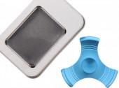 Aluminium Fidge Spinner in Giftbox Blue