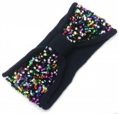 S-K2.1 H401-008B Headband with Sequins Navy