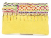 S-J6.2 BAG115-002 Ibiza Clutch with Long Shoulder Strap Yellow