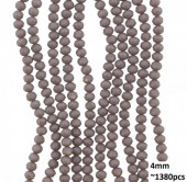 B-F6.4  Faceted glass beads 4mm About 1380pcs Grey