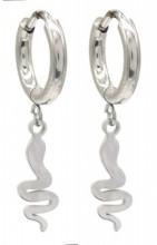 D-A4.4 E010-022S S. Steel Earrings Snake 1x2.5cm
