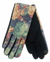 R-K3.2 GLOVE403-076B Glove Flowers Blue