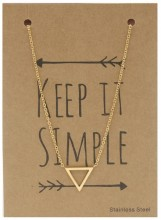 N1759-004 Stainless Steel Necklace Thick Triangle Gold