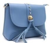 Z-A3.4  BAG546-025B PU Bag Tassels Blue