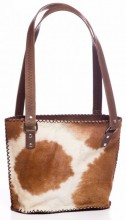 S-E6.2 Leather Bag with Mixed Colors Cowhide 33x25cm