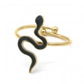 B-A1.2 R221-200G S. Steel Ring Snake Adjustable Gold-Black