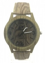 C-B18.4  W421-001B Quartz Watch Wood Look 40mm Khaki