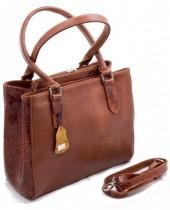 R-G5.2 Luxury Leather Bag 35x26cm Cognac