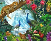 R-K6.2 FH1587 Diamond Painting Set Jungle Square 50x40cm