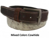 S-B8.1 Cowhide Leather Belt 4x90cm Adjustable 71-81cm Mixed Colors