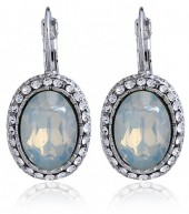 A-B5.1 Crystal Earrings 3x1.5cm Off-White
