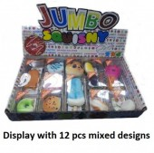 Z-C2.6 Jumbo Squishy in Display TREND 12pcs Keychain and Normal Mix