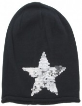 X-A2.1  Beanie with Star and Sequins Dark Blue