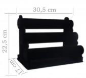 Y-F2.5 Display 3 Layers Black Velvet 22.5x30.5cm