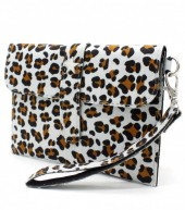 X-M7.1 WA220-008 Clutch with Panther Print and Star 18x12cm Blue