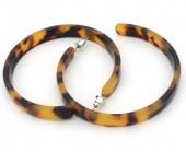 A-D4.4 E003-001 Acrylic Earrings with Animal Print