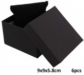 Z-E1.4 Giftbox for Watch - Bracelet with Cussion 9x9x5.8cm Black 6pcs
