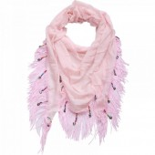 K-B5.1 Triangle Scarf with Fringes and Coins 180x70cm