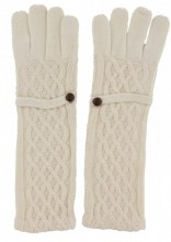 S-C7.1 TR-8615 Long Gloves with Button Off-White
