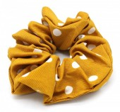 S-B7.3  H002-013 Scunchie Polka Dots Yellow