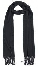 T-O2.1 SCARF406-002A Scarf with Fringes 170x31cm Black