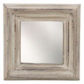 R-A6.2 Small Mirror in Wooden Frame 16x16x3cm Off White