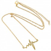 C-A3.5  41-48cm Stainless Steel Gold B099-006E Heartbeat
