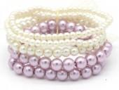 B-B5.5 B1763-007 Stretch Pearl Bracelet 6 rows