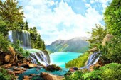 T-P7.2 RSB8164 Diamond Painting Set Lake 50x40cm
