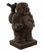 Heavy Buddha statue Brown 30x15cm