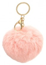 S-C5.3 KY414-004A Bag-Keychain Fluffy 9cm Pink