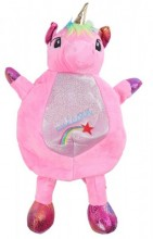 Y-D2.2 BAG416-002B Plush Backpack Unicorn Pink