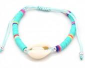 D-E17.3 B221-009C Bracelet with Shell Blue