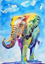 Q-A7.2 GM1053 Diamond Painting Set Elephant 50x40cm